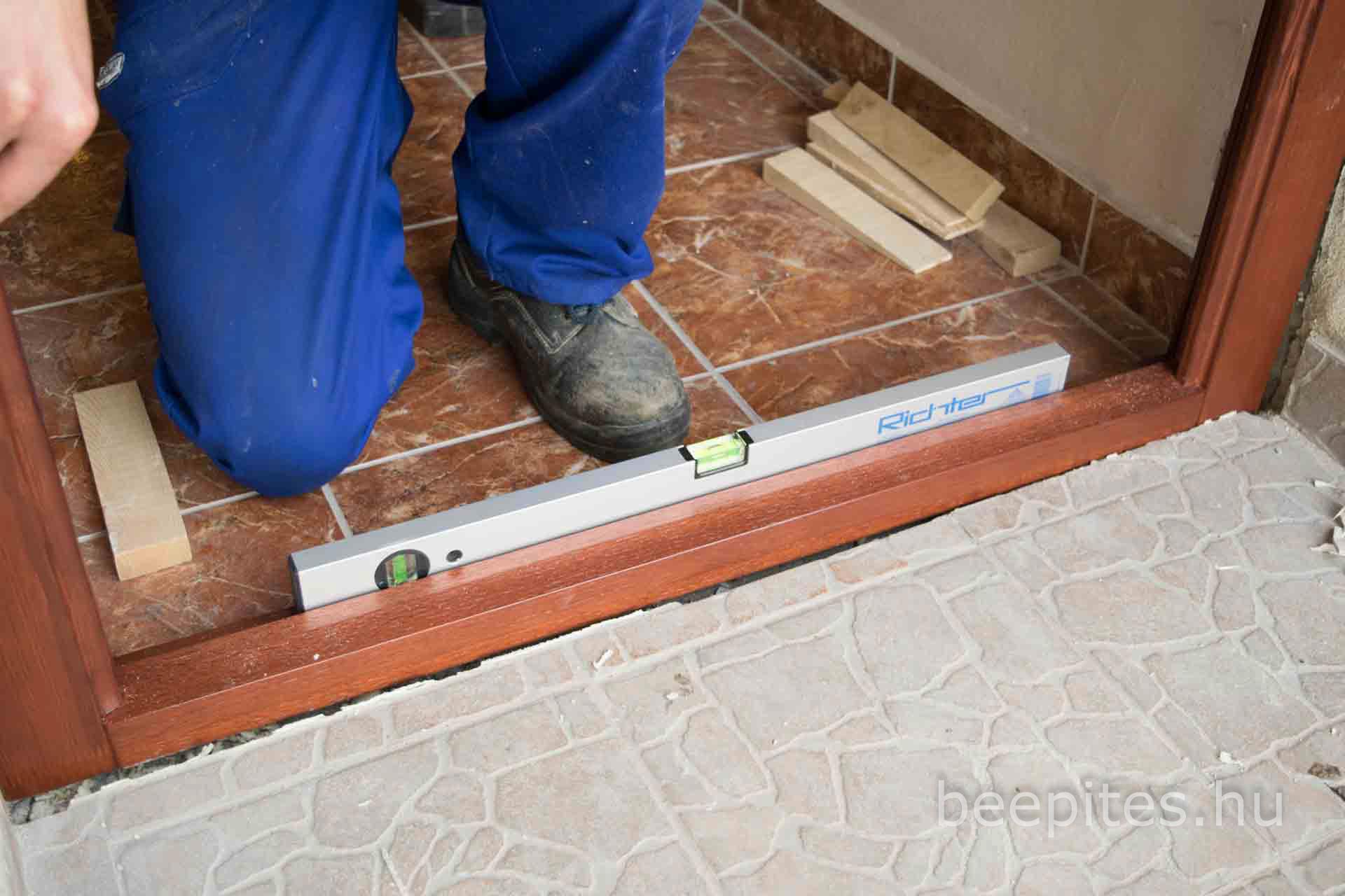 Utólag beépíthető ajtó beépítése